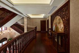 大气红木雅致中式风格过道装修案例