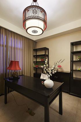 新古典黑色书房装饰设计图片