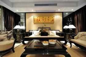 2016新中式典雅黑色客厅设计案例