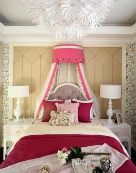 粉色浪漫欧式儿童房美图欣赏