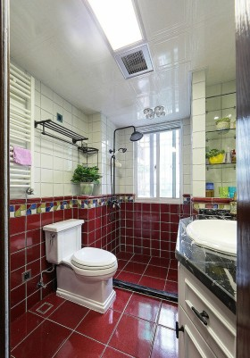 红色个性欧式风格卫生间装修设计