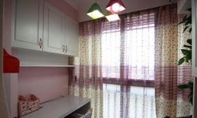 简约风格粉色窗帘设计图片