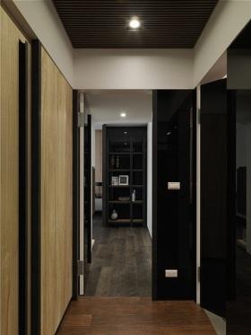 黑色雅致现代风格过道设计赏析