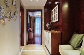 东南亚风格质感米色过道装修效果图片