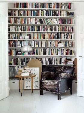 黑色简欧风格书房装修设计图