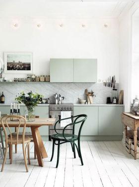 绿色清新宜家风格厨房橱柜装修布置