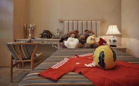 红色新中式儿童房装潢案例