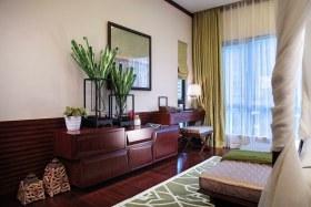 红色东南亚风格卧室装饰柜装修案例