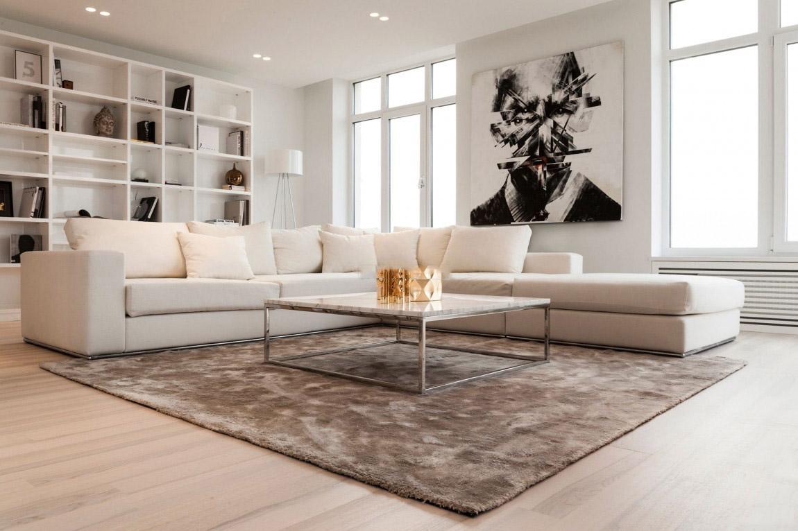 簡約風格大氣白色客廳裝修效果圖
