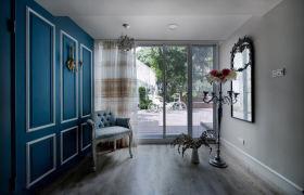 蓝色清新田园室内装饰装潢装饰图