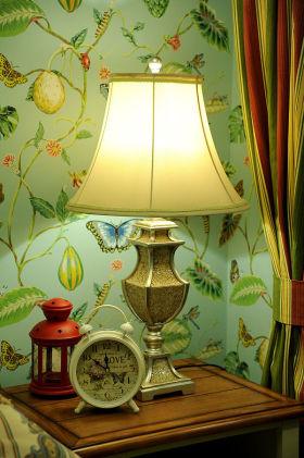 2016田园风格绿色卧室装饰品装修图
