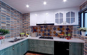 灰色地中海风格厨房橱柜美图赏析