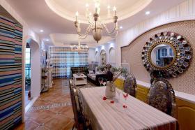 创意东南亚风格米色餐厅吊顶设计图片