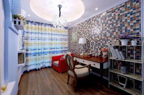 彩色浪漫地中海风格书房效果图设计