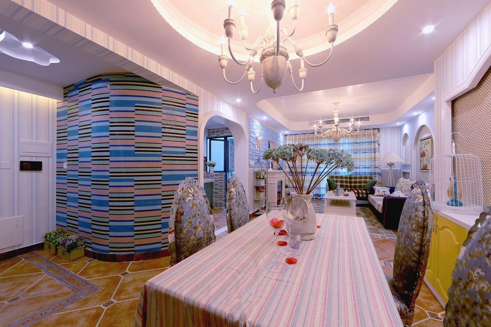 彩色浪漫地中海风格餐厅装修设计