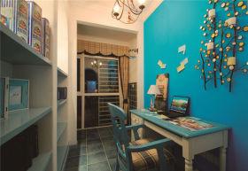 地中海蓝色个性创意时尚书房装潢