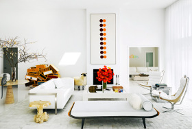 创意热情简约风格客厅装修布置