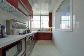 红色个性现代风格厨房装饰图