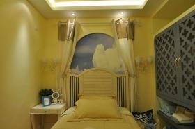 黄色温馨地中海儿童房装饰图