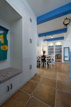 地中海风格蓝色浪漫实用收纳柜效果图设计