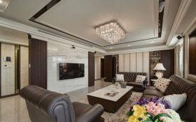 精致现代简欧风格客厅装修装潢案例