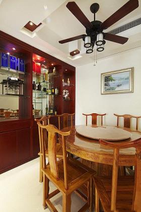 原木色中式风格餐厅装修效果图