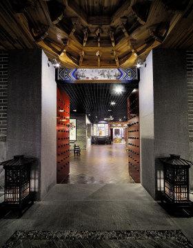 中式时尚玄关装饰设计图片