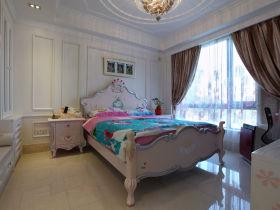 白色温馨简欧风格儿童房装潢设计