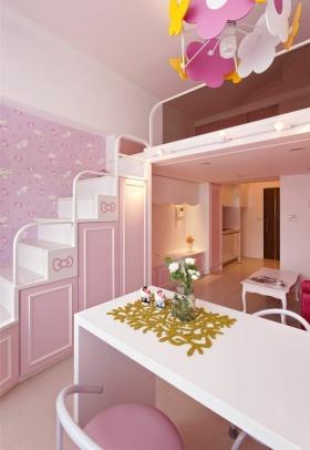 宜家粉色浪漫温馨餐厅楼梯欣赏