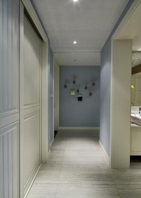 唯美现代风格粉蓝玄关装潢案例