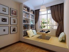 日式清爽简约风格书房榻榻米设计图片