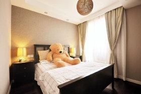 黄色新中式风格儿童房装修设计图