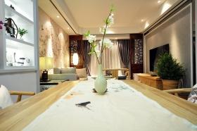 米色中式餐厅装修效果图片