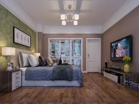 彩色时尚现代风格卧室装修美图