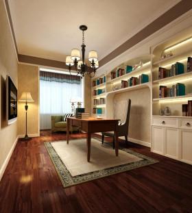欧式风格典雅书房效果图设计