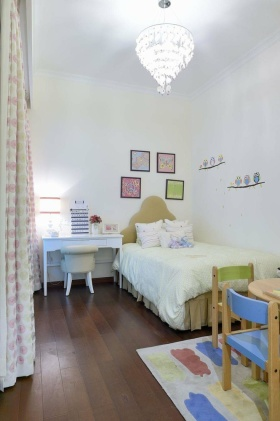 清新宜家风格白色儿童房装饰设计图片