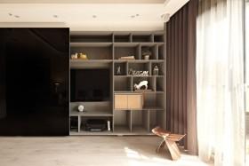 褐色欧式风格客厅背景墙设计图片