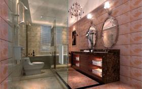 浪漫粉色美式风格卫生间效果图欣赏
