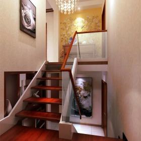 文艺雅致新古典风格楼梯装潢装饰图