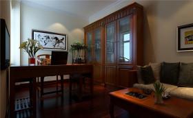 中式风格雅致红色书房效果图赏析