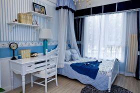 蓝色浪漫地中海风格儿童房装修设计图