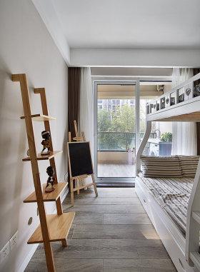 白色清新宜家风格儿童房设计图片