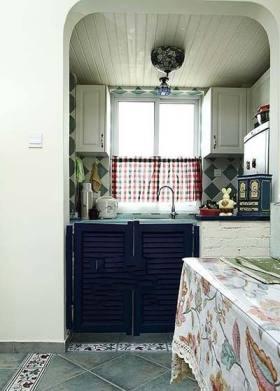 蓝色地中海风格厨房装潢设计