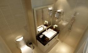 黄色欧式风格卫生间设计图