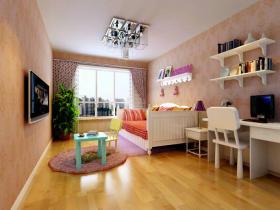 温馨粉色宜家风格儿童房装修案例