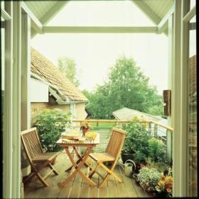 绿色浪漫简约风格阳台装修效果图片
