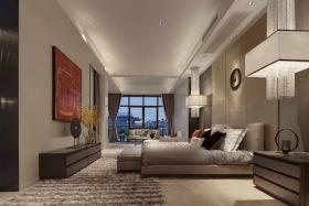 灰色新中式风格卧室装修美图