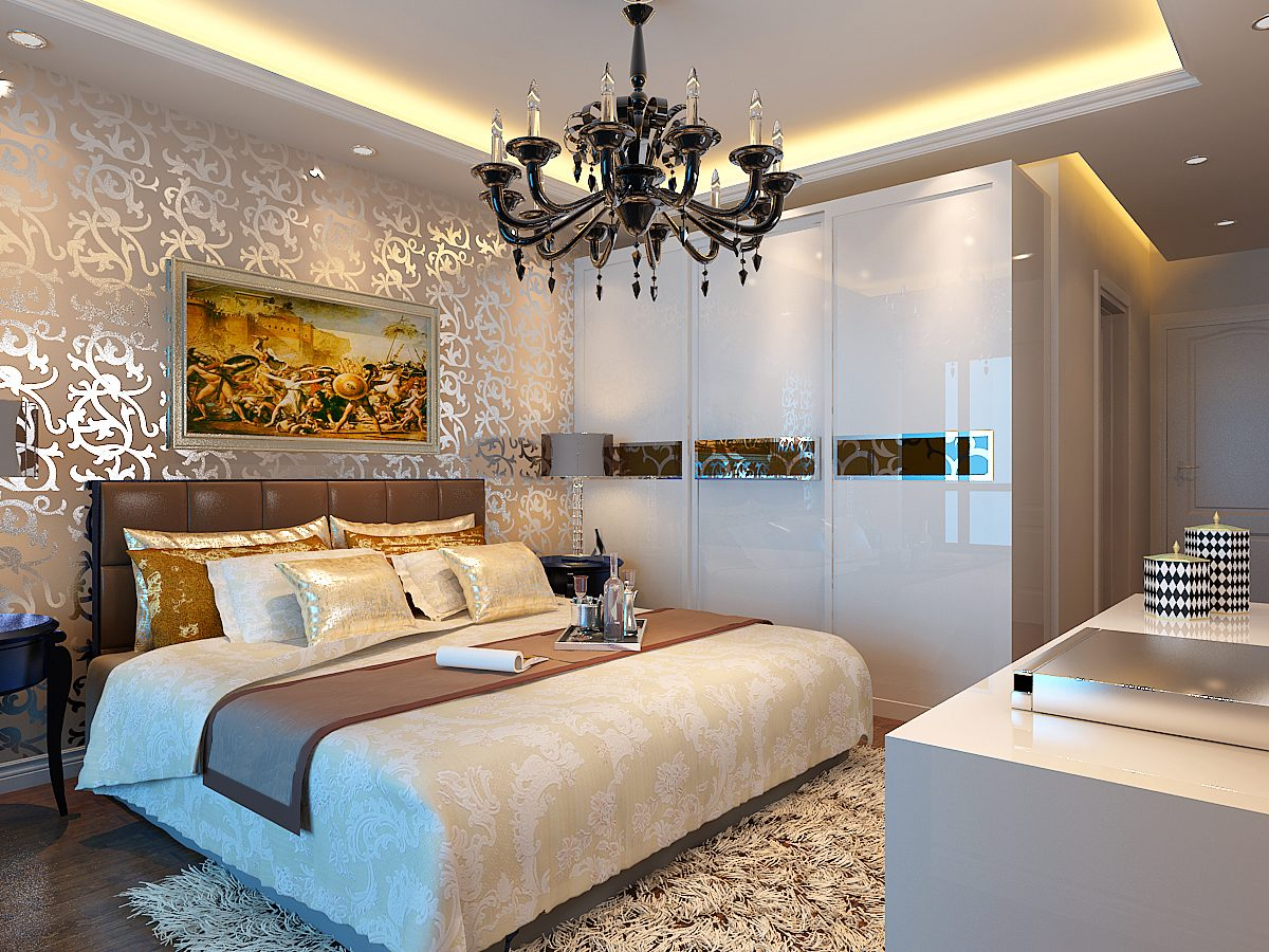 欧式风格时尚卧室衣柜设计装潢