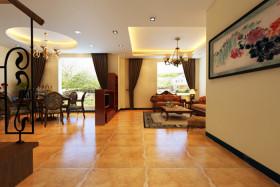 欧式风格橙色客厅效果图赏析