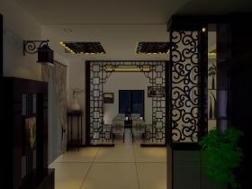中式风格素雅米色玄关设计欣赏